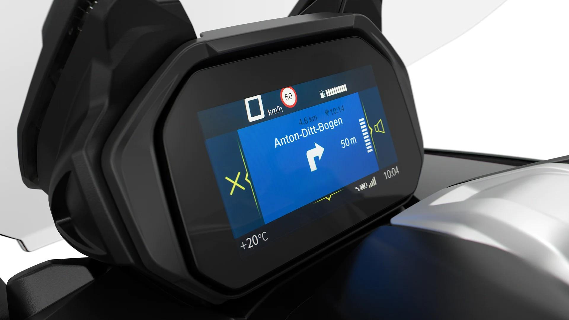 Опциональная приборная панель BMW Motorrad Connectivity с TFT-дисплеем